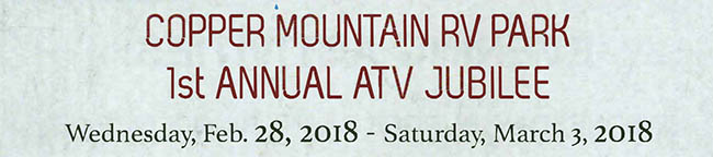 Copper Mountain RV Park - 1st Annual ATV Jubilee