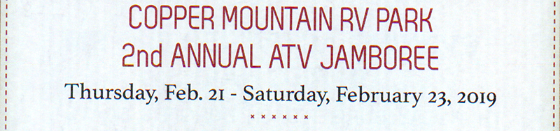 Copper Mountain RV Park - 2nd Annual ATV Jubilee