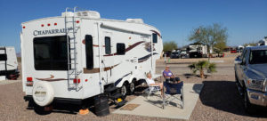 women at rv site